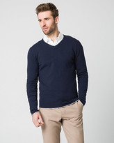 Le Château Cotton Blend V-Neck Sweater