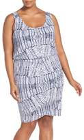 Tart Plus Size Women's Jan Print Jersey Sleeveless Blouson Dress