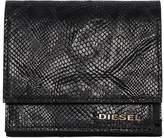 Diesel Snake Embossed Leather Flap Wallet