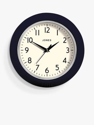 Jones Clocks Ketchup Small Analogue Wall Clock, 24.5cm, Midnight Blue