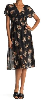 FAVLUX V-Neck Floral Midi Dress