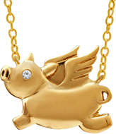 JCPenney FINE JEWELRY ASPCA Tender Voices Diamond-Accent Flying Pig Necklace