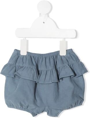 Knot Haruka ruffled bloomer shorts