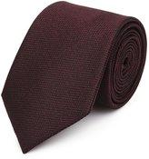 Reiss Ceremony - Textured Silk Tie in Red, Mens