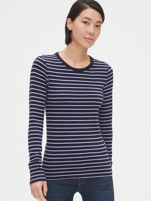 Gap Modern Stripe Long Sleeve Crewneck T-Shirt
