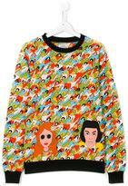 10X10 An Italian Theory Kids crowd print sweatshirt