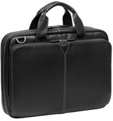 Johnston & Murphy Men's Leather Briefcase - Black