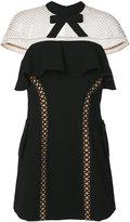 Self-Portrait capped sleeve dress - women - Polyamide/Polyester/Spandex/Elastane/Viscose - 8