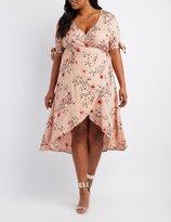 Charlotte Russe Plus Size Floral Midi Wrap Dress
