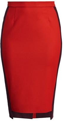 Marina Rinaldi, Plus Size Side Striped Pencil Skirt