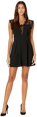BCBGeneration Lace Insert Dress GEF6294735 (Black) Women's Dress