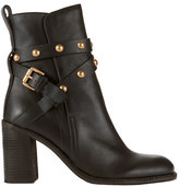 See by Chloe Grommet Strap Stack Heel Bottie