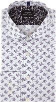 Simon Carter Long Sleeve Slim Fit Origami Bird Print Shirt