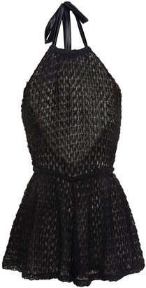 Missoni Mare Mare Metallic Crochet-knit Halterneck Playsuit