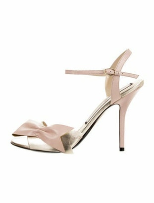 No.21 Leather Ankle Strap Sandals Gold