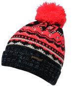 Golddigga Womens Fair Isle Bobble Hat Snow Winter Warm Accessories