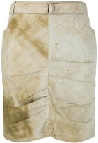 Christian Dior 2000s Pre-Owned Marble Effect Draped Skirt