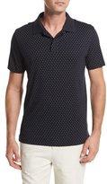 Vince Dot-Print Pima Cotton Polo Shirt, Navy