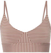 Olympia Activewear Daphne Striped Stretch-jersey Sports Bra
