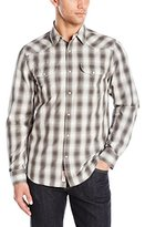 Lucky Brand Men's Long-Sleeve Dobby Western Shirt