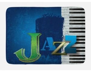 Ambesonne Jazz Music Bath Mat Bedding