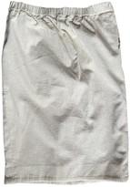 Saint Laurent White Velvet Skirts