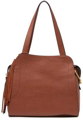 Vince Camuto Tal Croc-Embossed Leather Tote