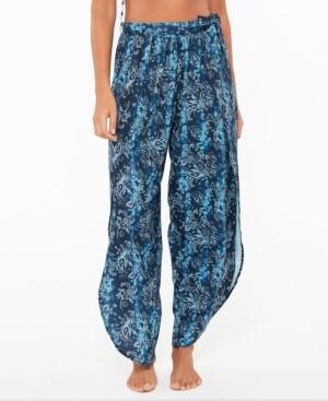 Jessica Simpson Batik Babe Tie Waist Beach Pants Women's Swimsuit