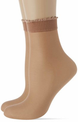 Levante Women's Ritz 10 Calzino 2 Paia 100% Made in Italy Casual Socks