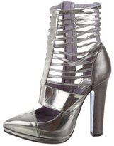 Versace Metallic Cage Pumps