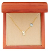 Argentovivo 18K Gold Plated Sterling Silver Hamsa & Circle Necklace