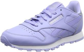 Reebok Girls Classic Leather Pastel Running Shoes Purple Size: 5.5UK Child