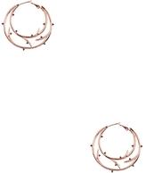 Noir Women's Enchanted Rose Gold Hoop Earrings with Thorn