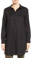 Eileen Fisher Petite Women's Organic Linen Tunic Shirt