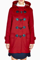 Burberry Military Red Hooded Duffle Coat