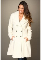 Jessica Simpson Double Breasted Textured Coat (Off White) - Apparel