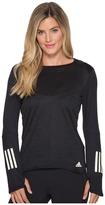 adidas Response Long Sleeve Gold Tee Women's Long Sleeve Pullover
