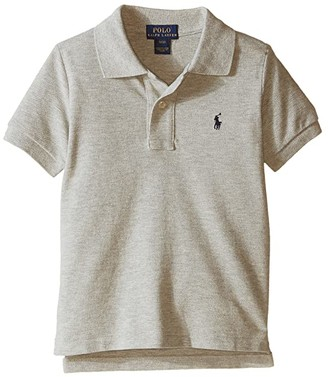 Polo Ralph Lauren Basic Mesh Polo (Toddler) (New Grey Heather) Boy's Short Sleeve Knit