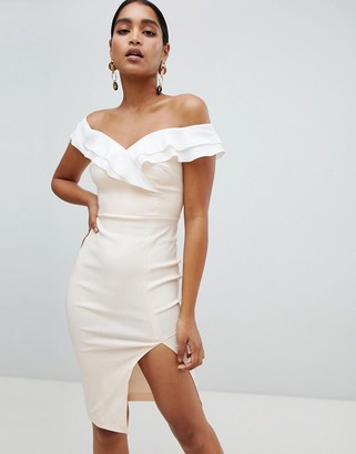 Bardot Vesper split front dress-Pink