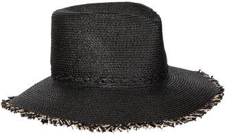 Eric Javits Mykonos Contrast Fringe Fedora Hat