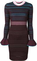 Versace striped dress - women - Polyester/Viscose - 40