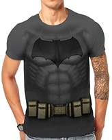 Batman Men's Vs Superman-Sublimated Costume T-Shirts,X-Large
