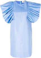 MSGM oversized ruffle sleeve dress