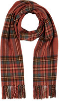 Drakes Drake's DRAKE'S MEN'S PLAID WOOL SCARF