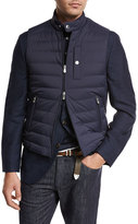 Brunello Cucinelli Quilted Nylon Down Gilet, Navy