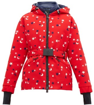 MONCLER GENIUS Star And Moon Embroidered Ski Jacket - Womens - Red