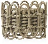 Juliska Waveney Wicker Napkin Ring, Greywash