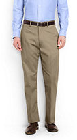 Lands' End Men's Big & Tall Plain Front Traditional Fit No Iron Chino Pants-Light Stone
