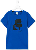 Karl Lagerfeld logo print T-shirt - kids - Cotton - 16 yrs