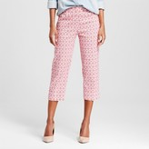 Zac & Rachel Women's Printed Eyelet Pull-on Pant with Tummy Control